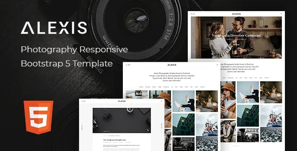Best Photography Responsive Bootstrap 5 Template