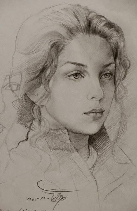 Sketching - Pencil Art - Art by Mehrdad jamshidi - BlogFanArt 1