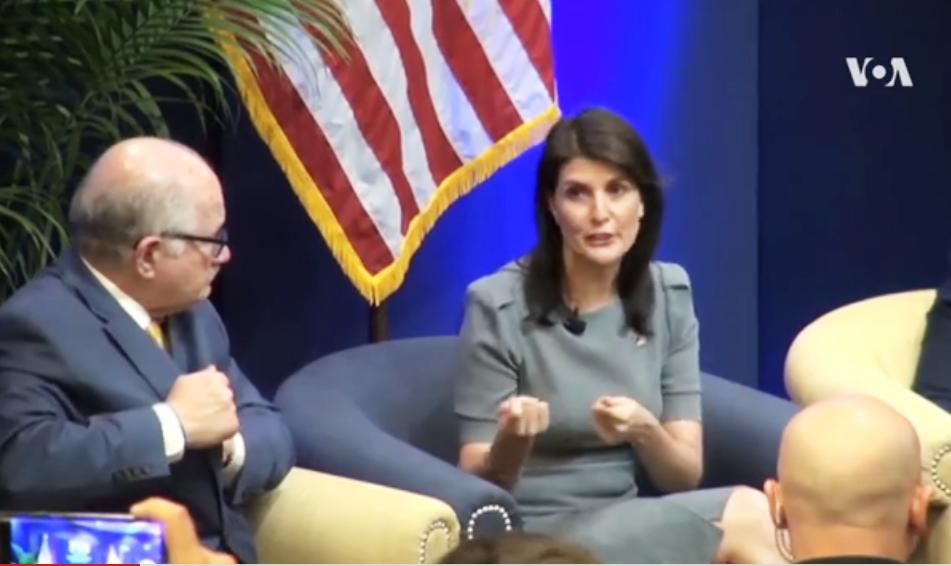 Embajadora de Estados Unidos ante la ONU, Nikki Haley