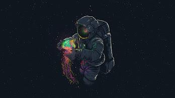 Astronaut, Jellyfish, Space, Digital Art, 4K, #107