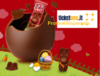 Logo Concorso ''KitKat vinci Ticket One'' : voucher da 10€ in palio!