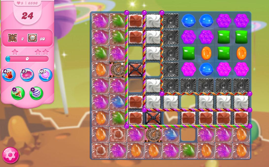 Candy Crush Saga level 6596