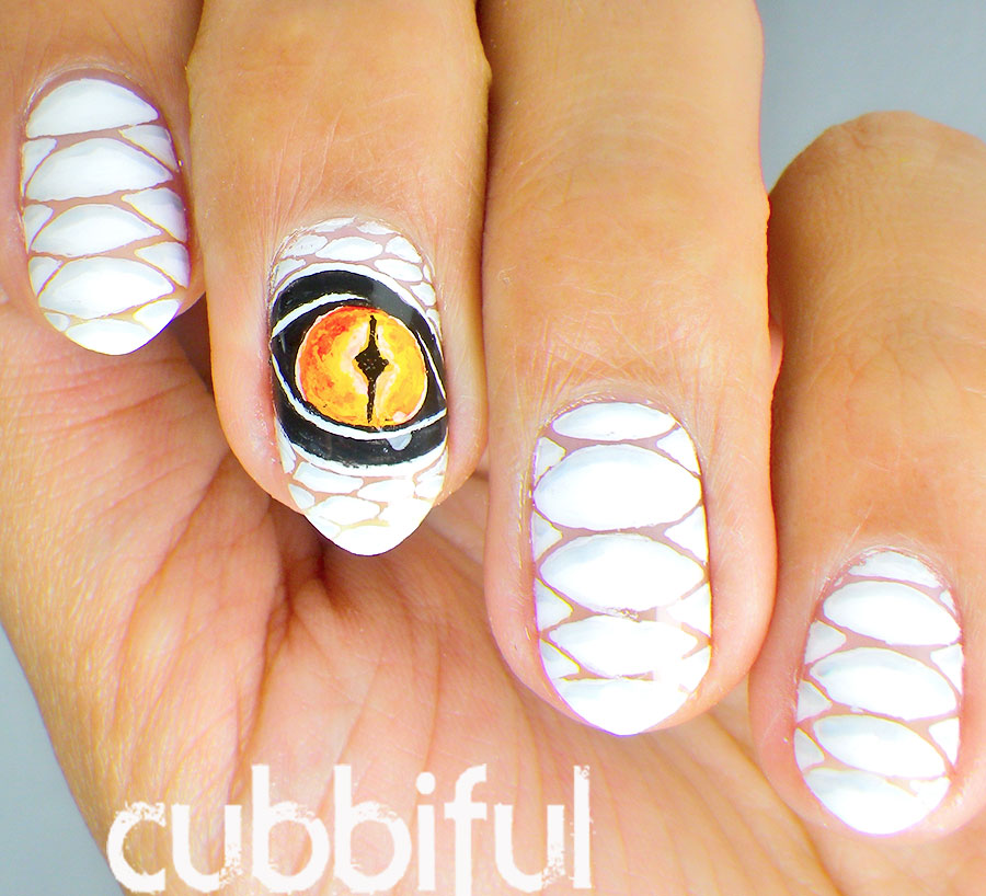 Awesome Dragon Nail Art - Cubbiful: Awesome Dragon Nail Art
