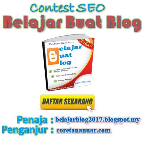 Contest SEO : Belajar Buat Blog.