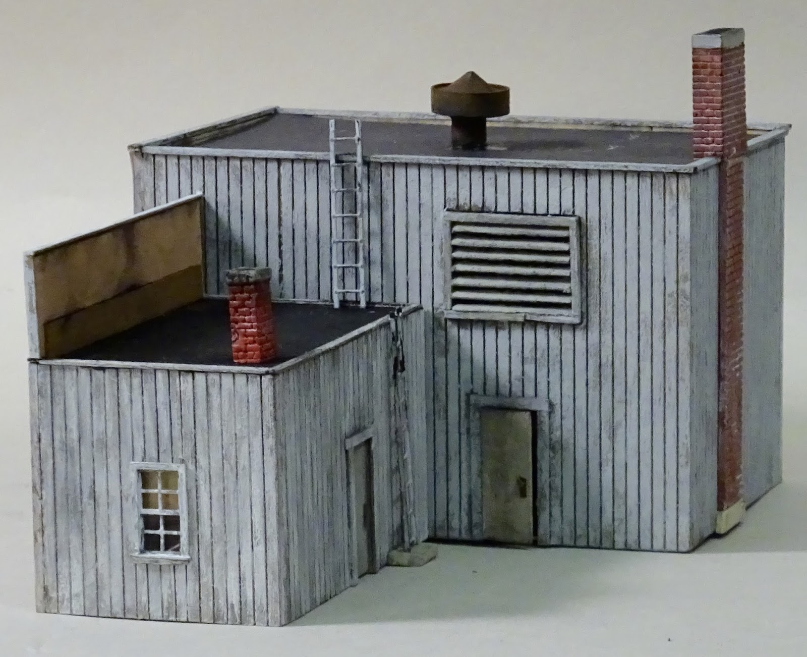 Model Railroad Minutiae Welding Shop Completed