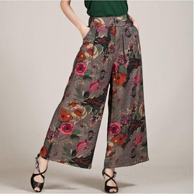 Fashion 2017 berhijab - Aneka Model Celana Kulot Motif Batik Terbaru Untuk Remaja