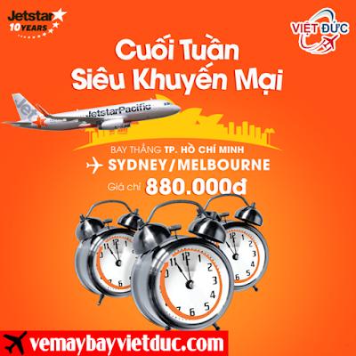 Đặt vé siêu khuyến mãi Jetstar ngày 31-3-2017