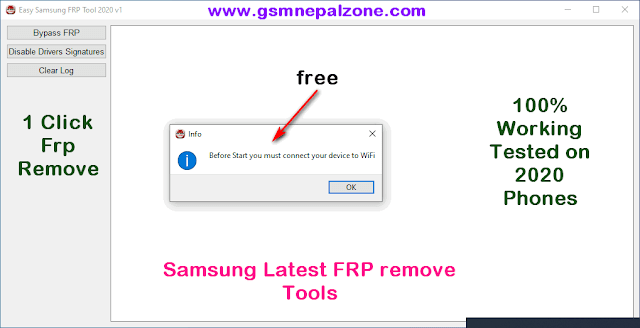 Samsung FRP remove Tools Latest version free Download| One click frp bypass done.