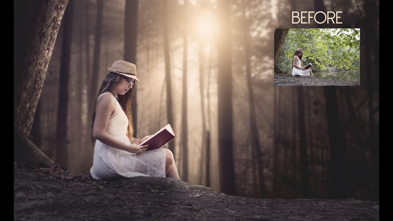Photoshop tutorial outdoor portrait editing baditri Image collections