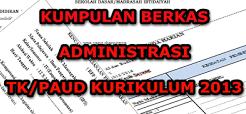 Administrasi TK/PAUD Sesuai Kurikulum 2013