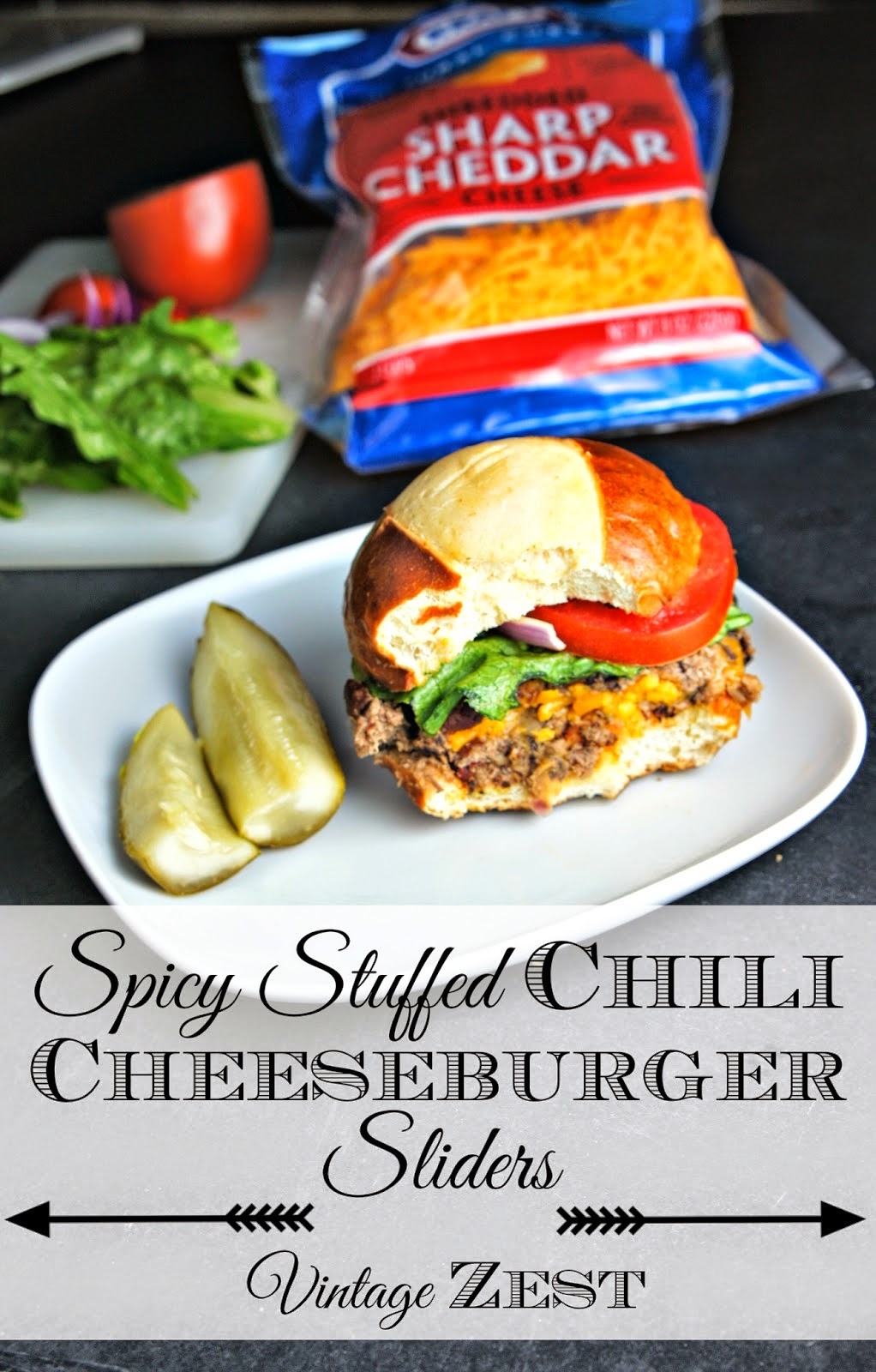 Spicy Stuffed Chilie Cheeseburger Sliders