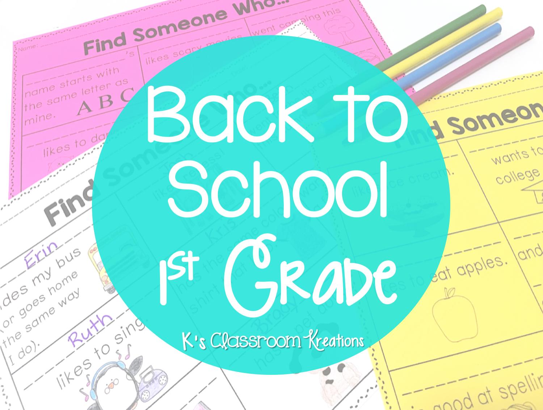 Back To School In 1st Grade