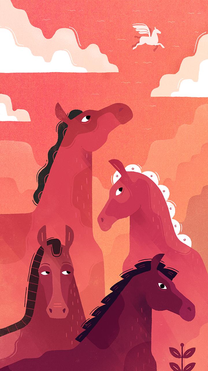 horse horses wallpaper 1080 x 1920