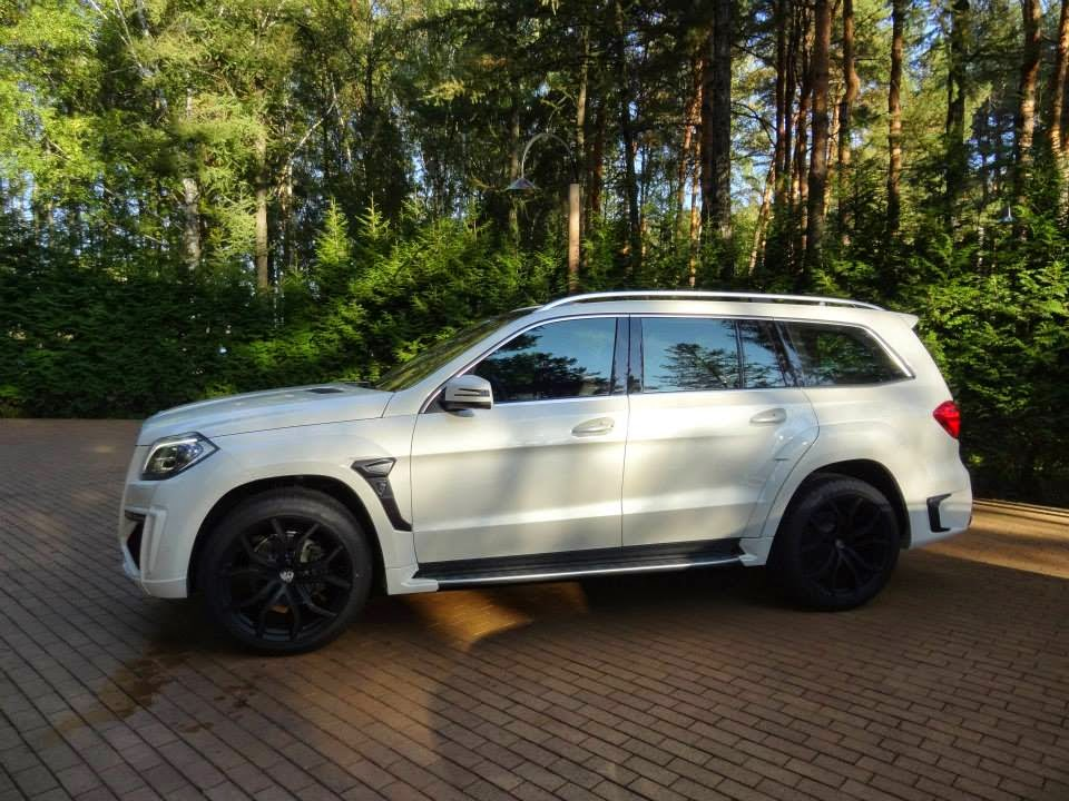 mercedes gl white tuning