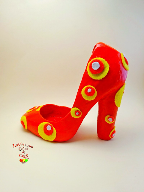 Paper-mache-decorative-shoes