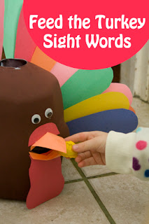 Feed the Turkey Sight Words