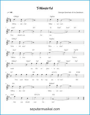 'S Wonderful chords jazz standar