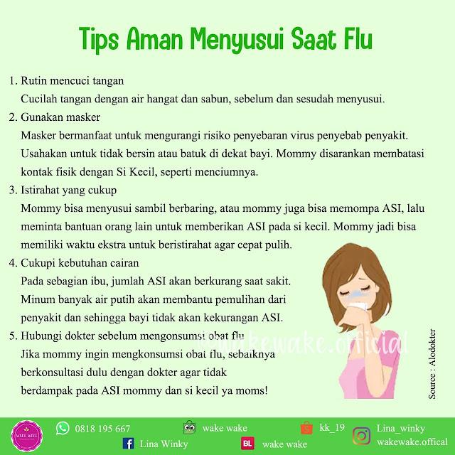 Tips Aman Menyusui Saat Sedang Flu