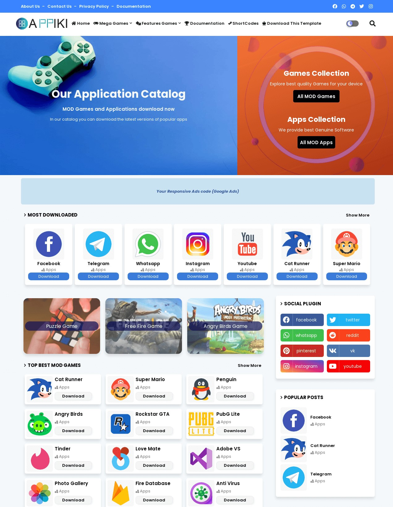 Appiki App Store And Review Blogger Template Free