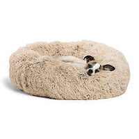 Best Dog Beds Review - Best Friends by Sheri Calming Shag Vegan Fur Donut Cuddler.