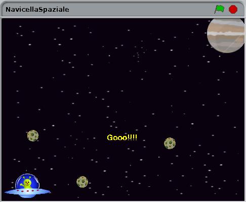 gioco scratch navicella spaziale creato da Simone Bacciglieri