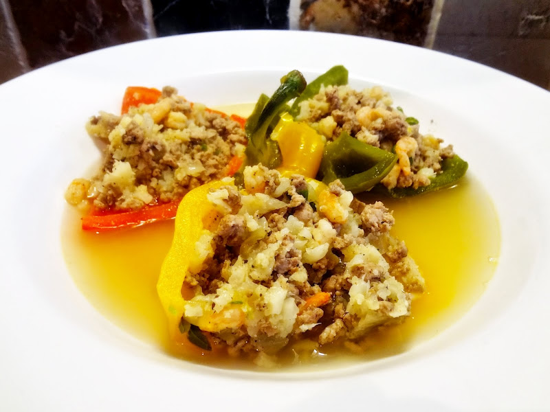 Turkey & Prawn Pilaf Stuffed Peppers