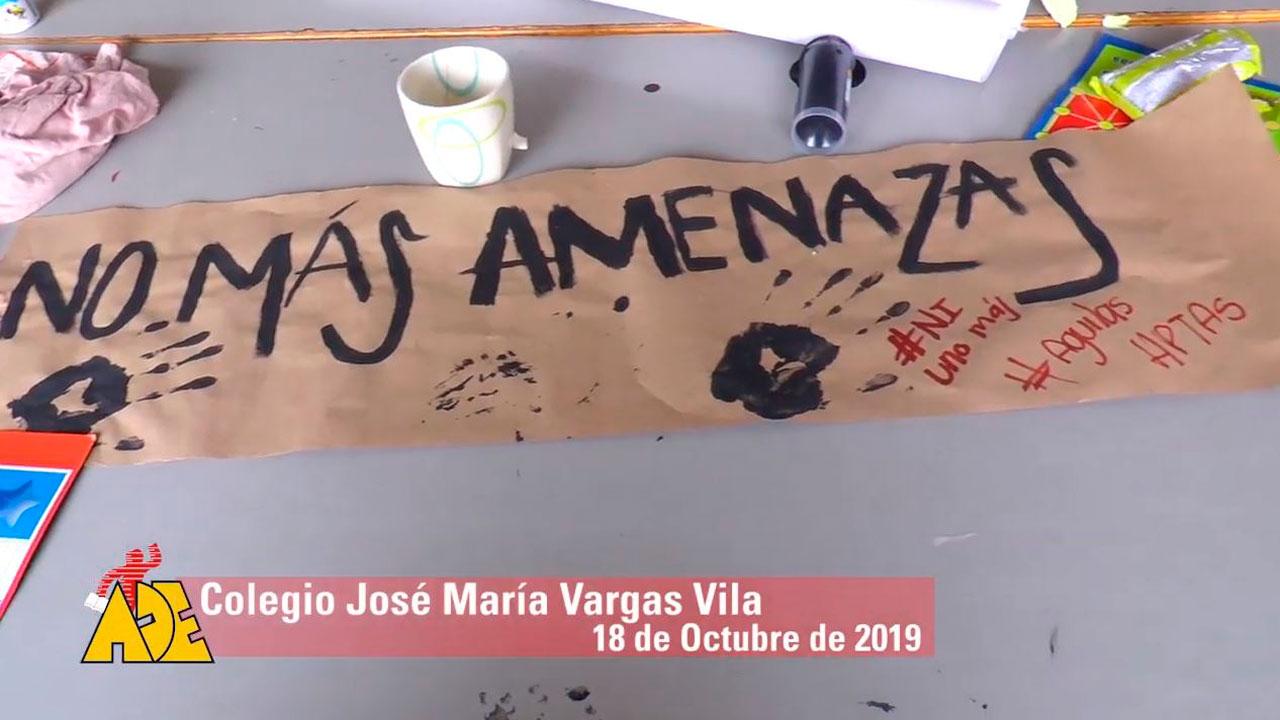 La verdad de la toma del Colegio Vargas Vila 18 de Octubre de 2019