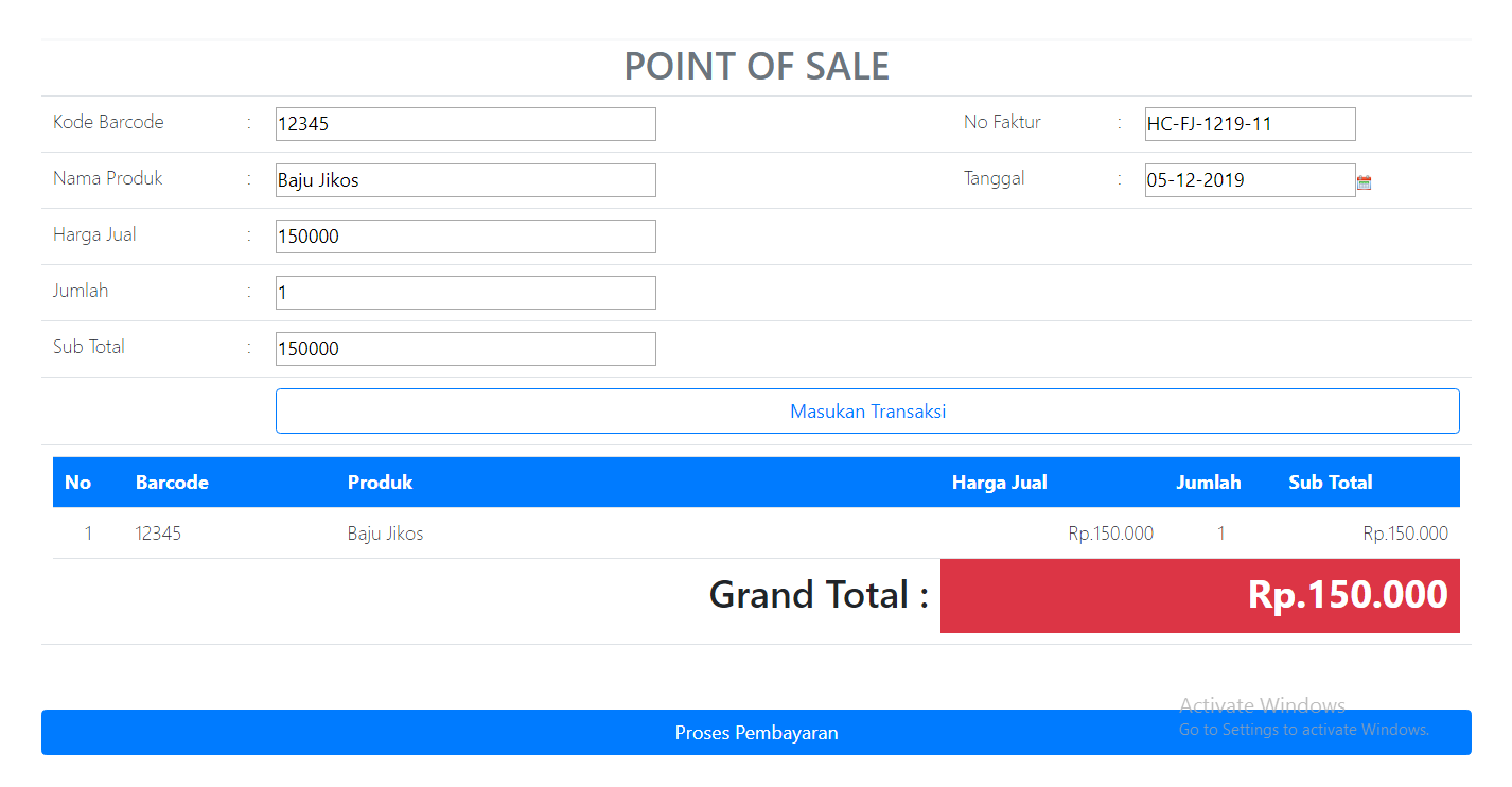 transaksi penjualan BARU APLIKASI PROGRAM KASIR ONLINE TERBARU - SOFTWARE KASIR