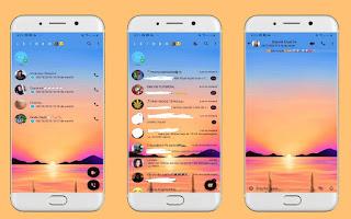 Sun Set Theme For YOWhatsApp & Fouad WhatsApp By Leidiane