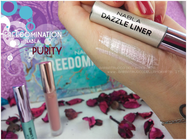 purity dazzle liner swatches  nabla cosmetics freedomination collection summer