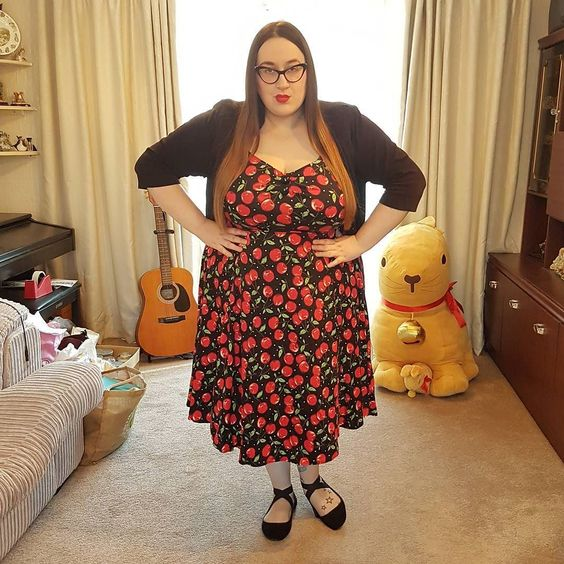 plus size collectif cherry Dolores dress