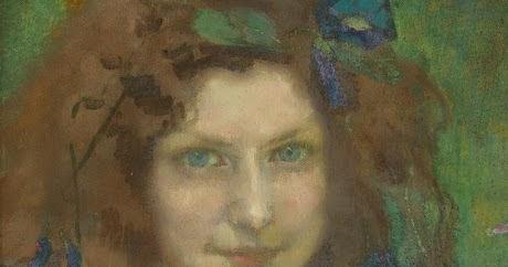 art blog julie wolfthorn girl with blue green eyes 1899