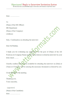acceptance of interview call letter