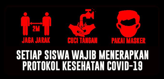 STICKER PROTOKOL KESEHATAN SISWA KARYAWAN