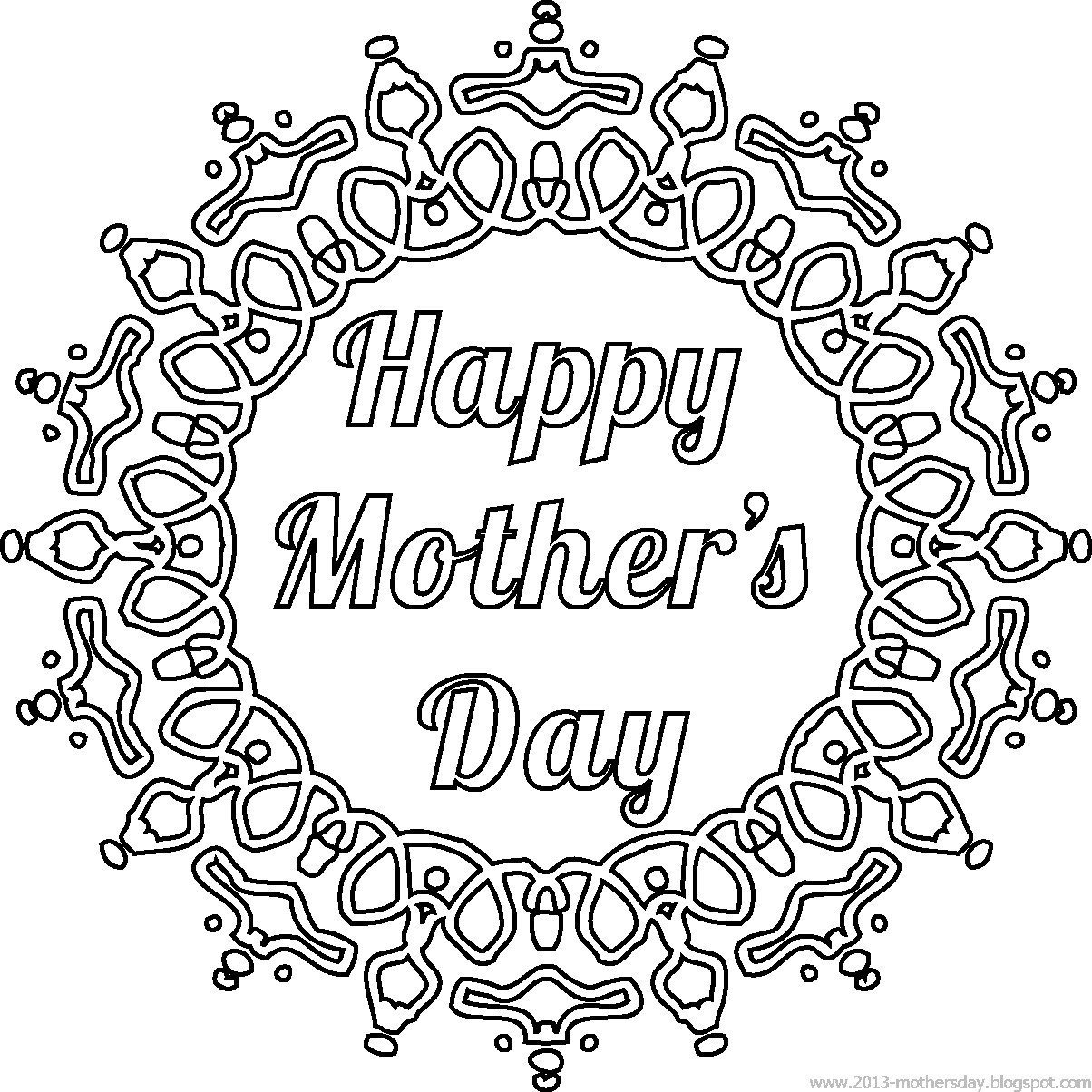 4 free printable Mother's Day ecards to color ...  |Happy Mothers Day Certificate Printables