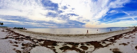 Fred H. Howard Park Beach, Tarpon Springs, Florida USA