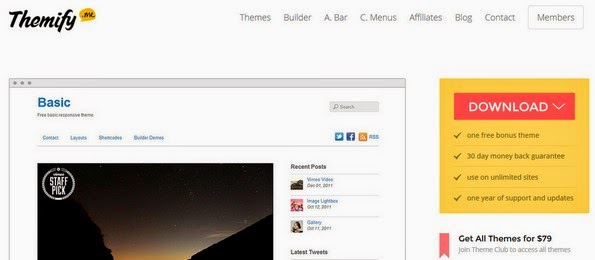 Basic skeleton theme for WordPress