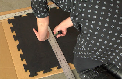 Greatmats how to cut rubber tiles installation