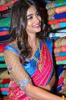 Puja Hegde looks stunning in Red saree at launch of Anutex shopping mall ~ Celebrities Galleries 083.JPG