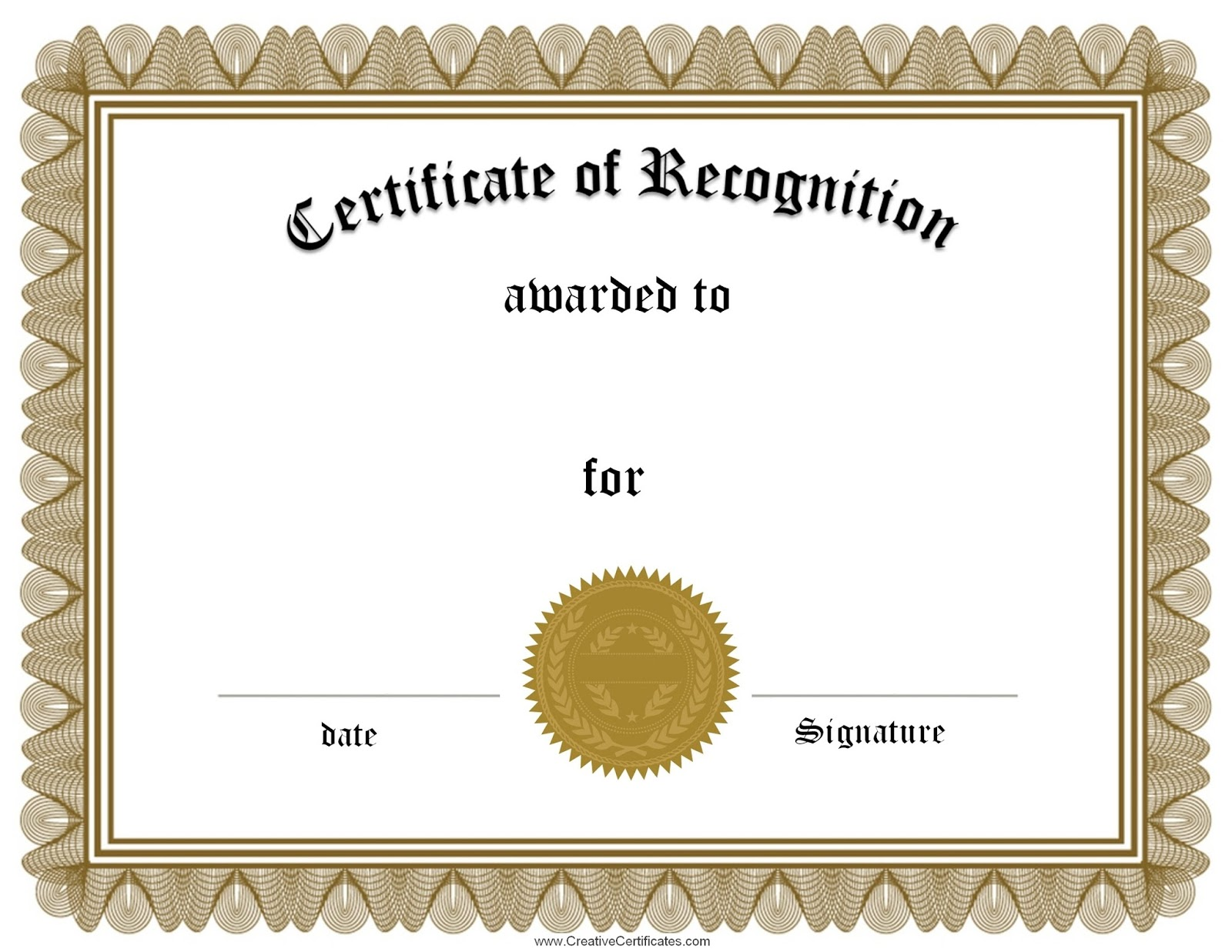 Employee recognition award certificate template d templates employee recognition award certificate template yadclub Images