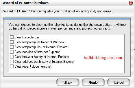 Clean Up Pc Auto Shudown