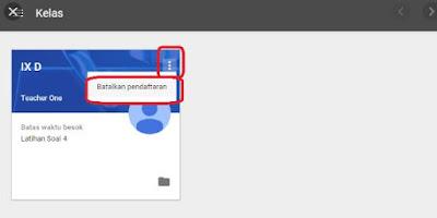 Cara Keluar dari Kelas di Google Classroom
