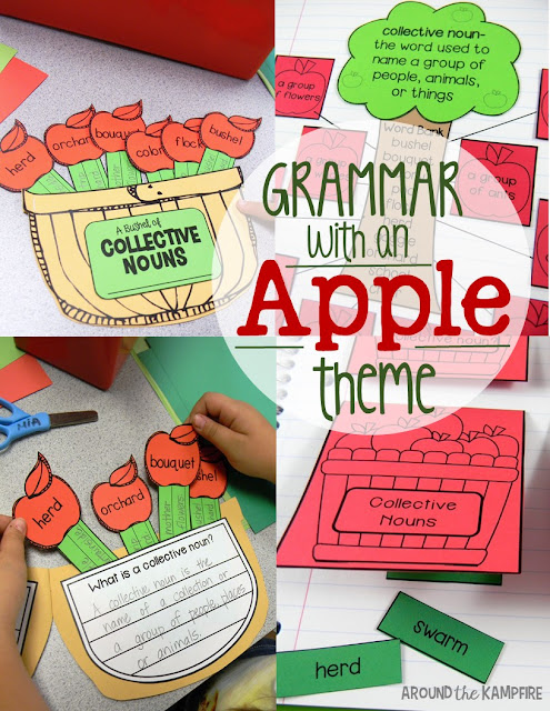 Apple activities for 2nd and 3rd grade learning about collective nouns