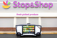 Stop & Shop customers in the Boston area can summon a Robomart vehicle (Credit: Stop & Shop, Robomart) Click to Enlarge.