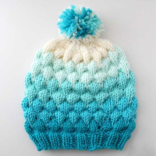 Bubble Beanie Hat - Free Pattern