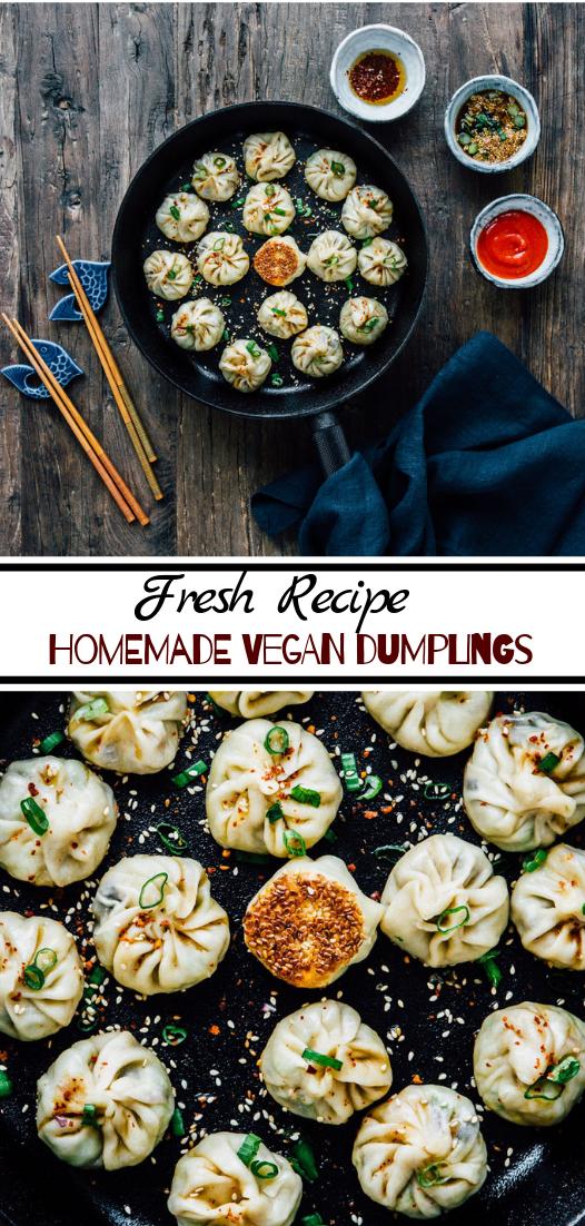 Homemade Vegan Dumplings #vegan #vegetarian #soup #breakfast #lunch