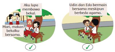 ada gambar yang sesuai pengamalan sila pertama atau sila kedua Pancasila di sekolah www.simplenews.me