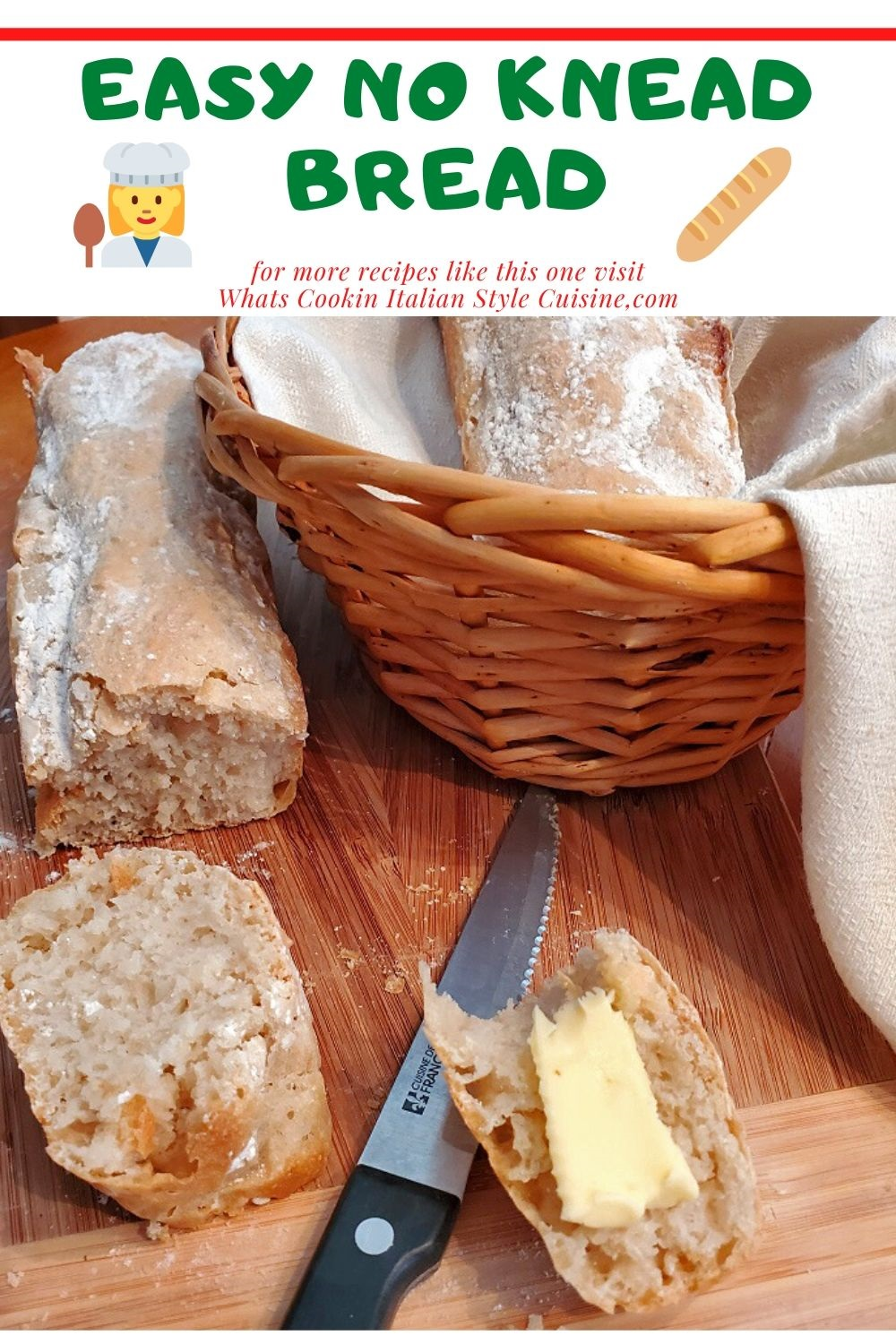 this is a pin for later recipe for no knead bread