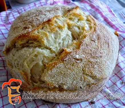 Semolina No Knead Bread | Çitra's home Diary. #Nokneadbread #homemadebread #artisanbread #overnightbread