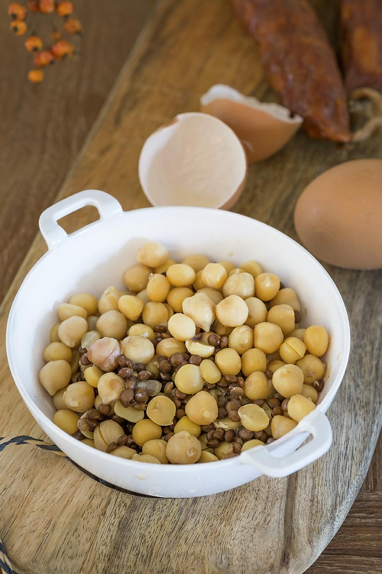 1 potje salade boontjes, Mediterrane mix